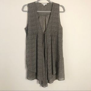 CAbi Gray Speckled Sleeveless Top
